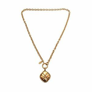 Chanel Vintage Gold Toned Diamond Shaped Textured
